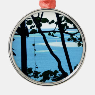 Plage Paradis Silver-Colored Round Decoration