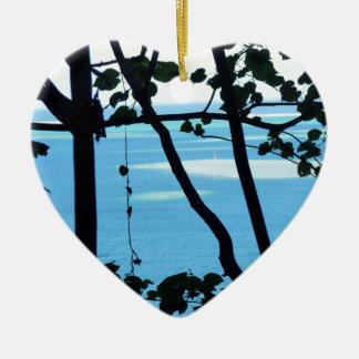 Plage Paradis Ceramic Heart Decoration