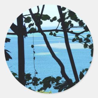 Plage Paradis Round Sticker