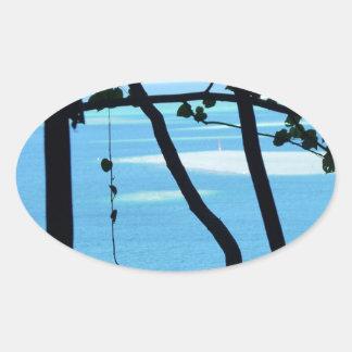 Plage Paradis Oval Sticker