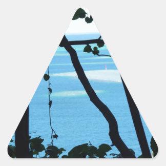 Plage Paradis Triangle Sticker