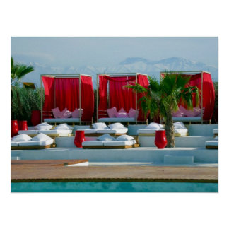 Plage Rouge Poster
