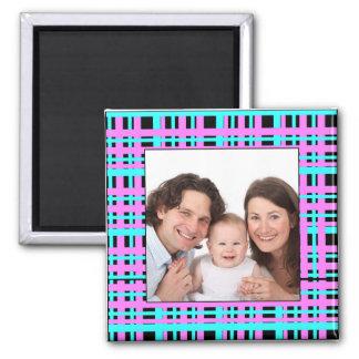 Plaid Design/Photo Magnet