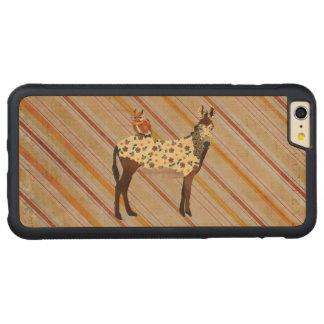Plaid Donkey & Owl Carved iPhone Case