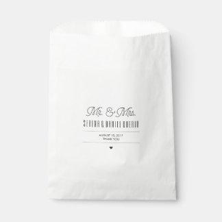 Plaid-ish Modern Wedding Favor Bag