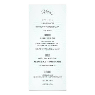 Plaid-ish Modern Wedding Menu 10 Cm X 24 Cm Invitation Card