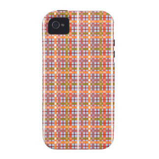 Plaid-On-Blue-Sky-Background-Pattern iPhone 4 Cover