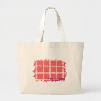 Plaid Pink 2 Large Tote Bag