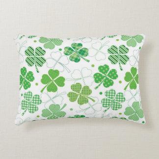 Plaid Shamrocks Decorative Cushion