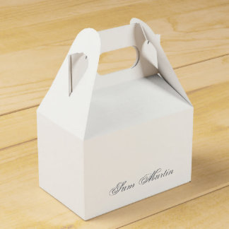 Plain 3d Monogram Name Text Wedding Favour Box
