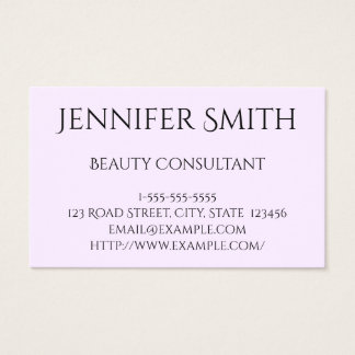 Plain and Basic Beauty Consultant Business Card