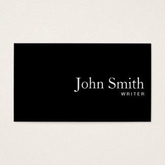 Plain Black QR Code Writer Business Card