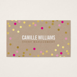 PLAIN BOLD MINIMAL confetti gold pink cute kraft