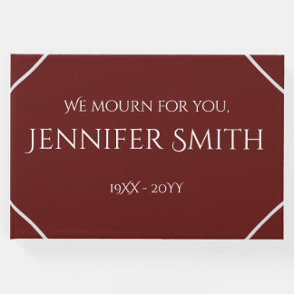 Plain & Elegant Funeral/Memorial Guest Book