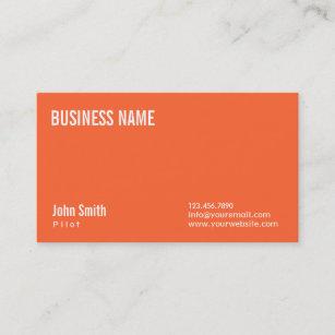plain orange pilotaviator business card - Aviator Business Card