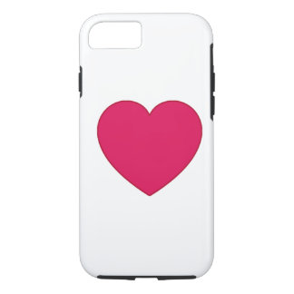 Plain Outlined Cherry Red Heart iPhone 7 Case