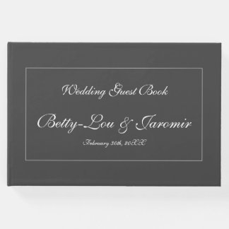 Plain, Personalized Wedding Guestbook