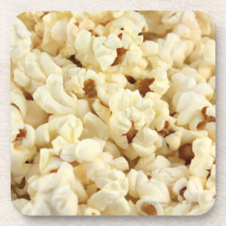 Plain popcorn close up. coaster