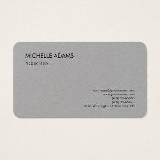 Plain Premium Grey Simple Professional Modern Business Card