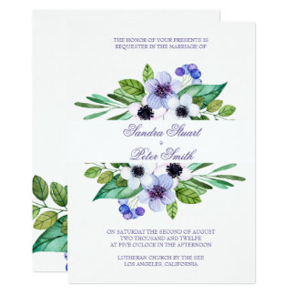 Plain Purple And Pink Flowers Card