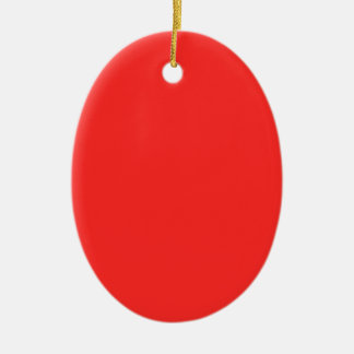 Plain RED : Buy BLANK or Add TEXT n IMAGE lowprice Christmas Ornament