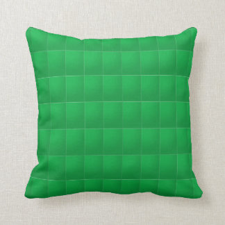 Plain Red n Green: Add your photo or text Throw Pillow