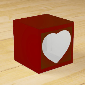 Plain Red Square >Valentines Day Favour box