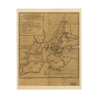 Plan of Attack on Long Island August 27th 1776 Wood Print