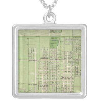 Plan of Davenport, Scott County, State of Iowa Silver Plated Necklace