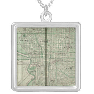 Plan of Indianapolis Silver Plated Necklace