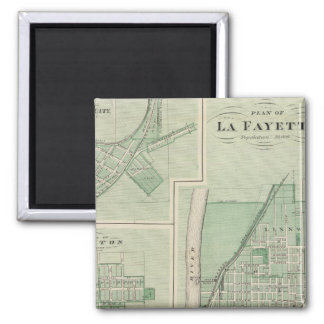 Plan of La Fayette with Battle Ground City Magnet