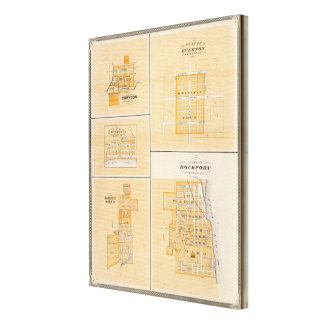 Plan of Rockport, Spencer Co with Everton Canvas Print