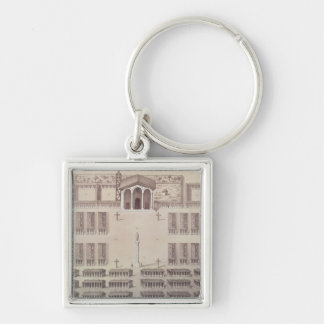 Plan of the Candelaria Mission in Paraguay Key Ring