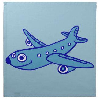 plane cartoon napkin