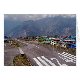 Plane Takeoff at Lukla Mountain Airport, Nepal Card