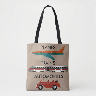 Planes, Trains and Automobiles Tote Bag