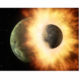 Planet Collision Space Art Photo Cut Outs