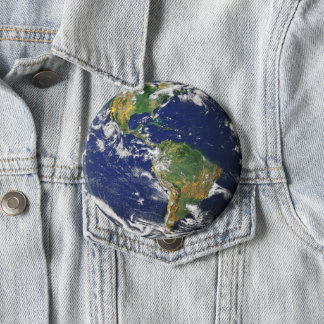 Planet Earth 10 Cm Round Badge