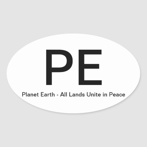 Planet Earth - All Lands Unite in Peace Stickers