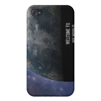 Planet Earth and Outer Space Fantasy Art Case For iPhone 4