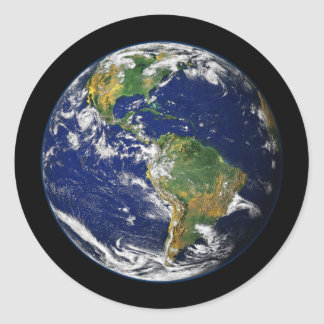 PLANET EARTH natural (solar system) ~ Classic Round Sticker