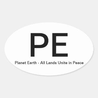 Planet Earth - PE - Bumper Sticker