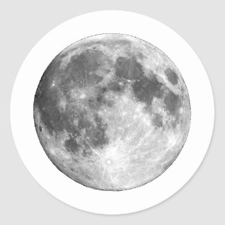 PLANET EARTH'S MOON (solar system) ~~ Round Sticker