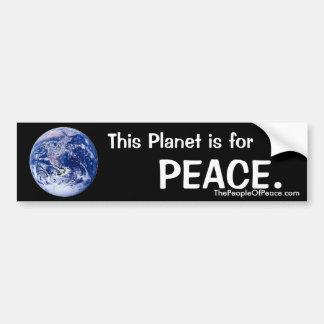 Planet for Peace Bumper Sticker