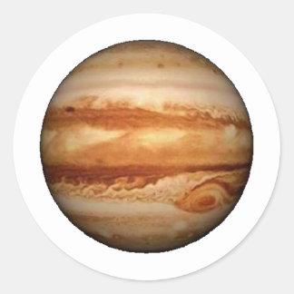PLANET JUPITER v.3 (solar system) ~ Classic Round Sticker