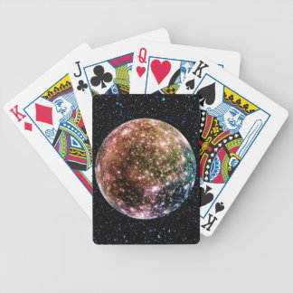 PLANET JUPITER'S MOON: CALLISTO (Star Background) Bicycle Playing Cards