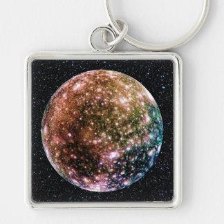 PLANET JUPITER'S MOON: CALLISTO (Star Background) Keychains