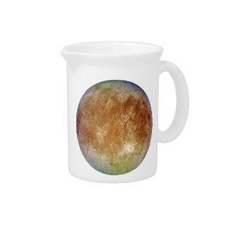 PLANET JUPITER'S MOON EUROPA (solar system) ~.png Beverage Pitcher