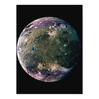PLANET JUPITER'S MOON GANYMEDE (solar system) ~ 17 Cm X 22 Cm Invitation Card