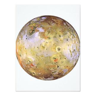 PLANET JUPITER'S MOON IO (solar system) ~ 17 Cm X 22 Cm Invitation Card